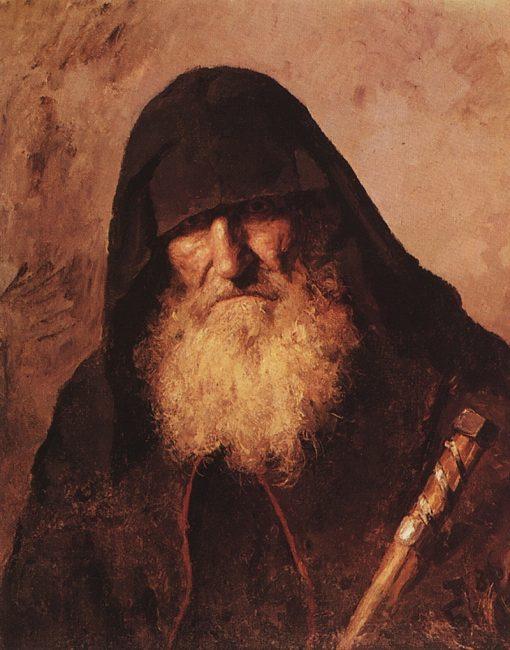 A Palestinian Monk   Vasily Polenov   Oil Painting