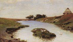 Landscape with River | Vasily Polenov | Oil Painting