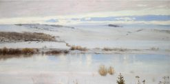 First Snow | Vasily Polenov | Oil Painting