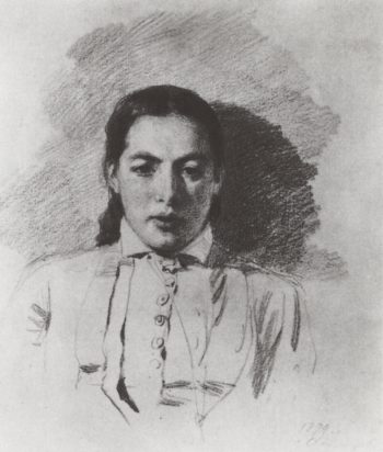 Portrait Sketch of Natalya Yakunchikova   Vasily Polenov   Oil Painting