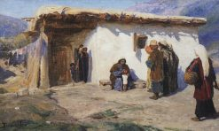 Children Brought to Jesus | Vasily Polenov | Oil Painting