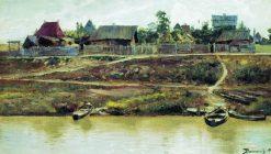 Village on the Volga | Vasily Polenov | Oil Painting