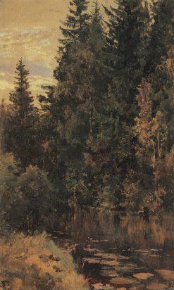The Pond   Vasily Polenov   Oil Painting
