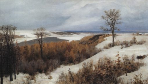 Early Snow   Vasily Polenov   Oil Painting