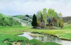The Svinka River near Aleksin   Vasily Polenov   Oil Painting