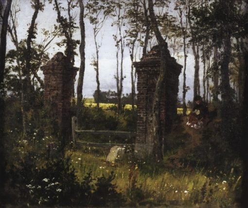 An Old Gate. The Village of Veules in Normandy | Vasily Polenov | Oil Painting