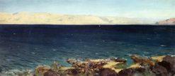 The Sea of Tiberias (Galilee)   Vasily Polenov   Oil Painting