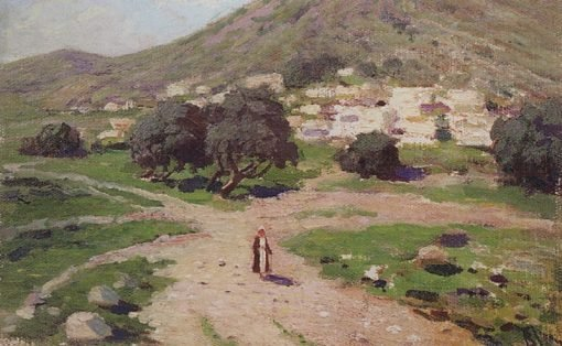At the Foot of the Mountain | Vasily Polenov | Oil Painting
