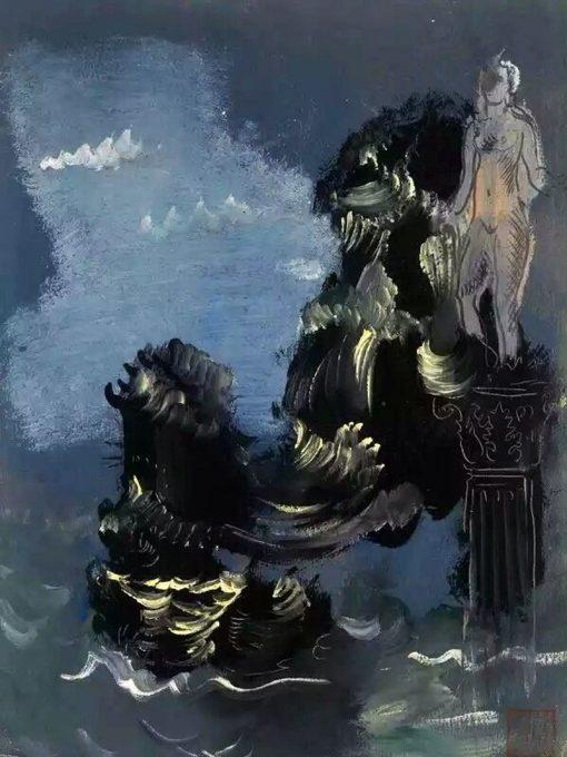 Mythological Scene   Alexander Evgenievich Yakovlev   Oil Painting