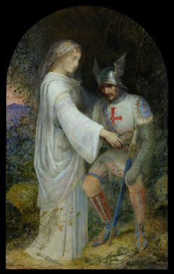 Una and the Redcrosse Knight in the Cavern of Despair | Edward Henry Corbould | Oil Painting