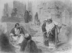 Christ and the Sinner (study) | Vasily Polenov | Oil Painting