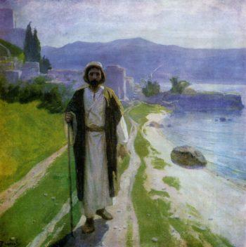Christ on the Sea of Tiberias (Galilee)   Vasily Polenov   Oil Painting