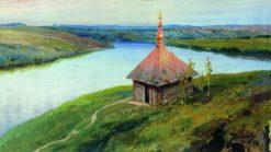 Chapel on the Oka River | Vasily Polenov | Oil Painting