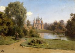 Church by a Lake | Vasily Polenov | Oil Painting