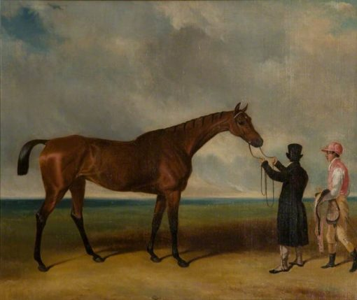 Fleur de Lys Held by a Trainer on a Racecourse | John Frederick Herring
