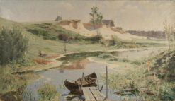 Boats on the River | Vasily Polenov | Oil Painting