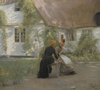 A Quiet Moment | Peter Ilsted | Oil Painting