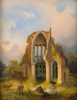Ruins | Anton Schiffer | Oil Painting