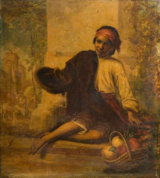 A Boy Selling Fruit | William Knight Keeling | Oil Painting
