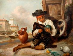 The Melon Seller | William Knight Keeling | Oil Painting