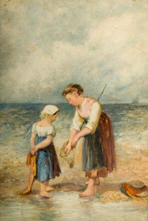 The Young Shrimpers | William Knight Keeling | Oil Painting