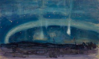 Shooting Star in Lapland   Eero Jarnefelt   Oil Painting