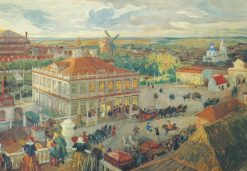 At the German Quarter in Moscow | Alexander Benois | Oil Painting