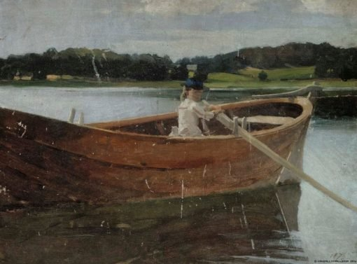 The Artists Sister Berta in a Rowing Boat
