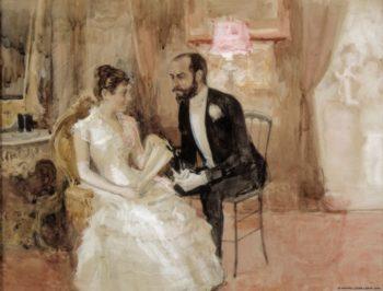 At the Ball   Albert Edelfelt   Oil Painting