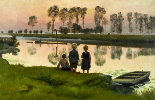 Le bateau qui passe | Emil Claus | Oil Painting