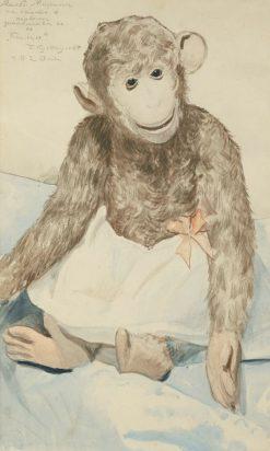 The Toy Monkey | Boris Mikhailovich Kustodiev | Oil Painting