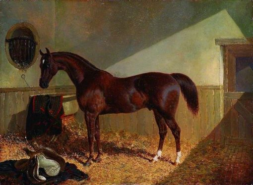 Brown Horse in a Stable | John Frederick Herring