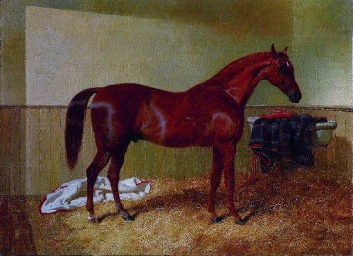 Chestnut Horse in a Stable | John Frederick Herring
