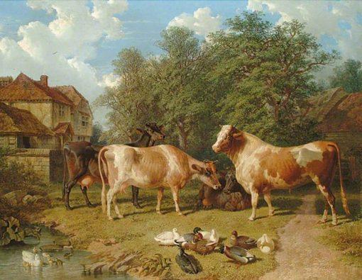 Cattle and Ducks | John Frederick Herring