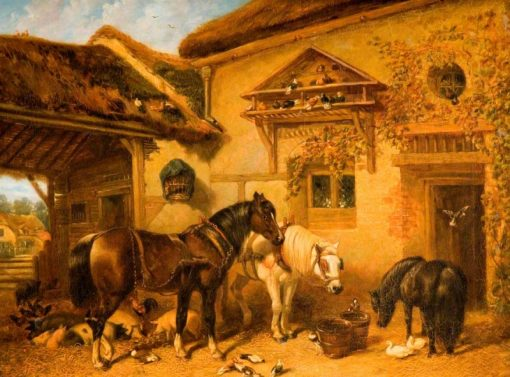 Cottage Door and Farmstead | John Frederick Herring