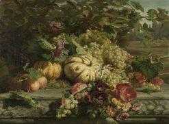Still Life with Flowers and Fruit | Geraldine Jacoba van de Sande Bakhuyzen | Oil Painting