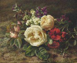 A Summer bouquet | Geraldine Jacoba van de Sande Bakhuyzen | Oil Painting