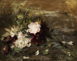 Waterlilies and daisies | Geraldine Jacoba van de Sande Bakhuyzen | Oil Painting