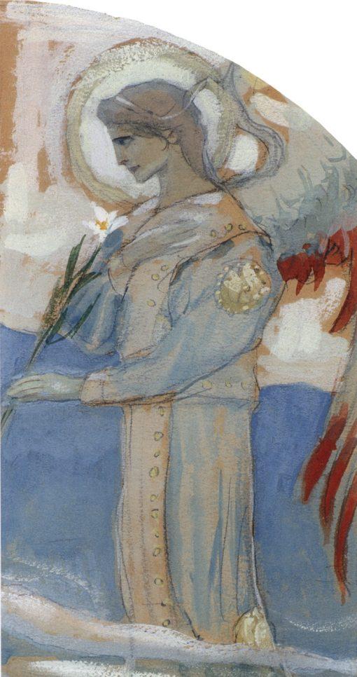 Archangel Gabriel   Mikhail Vasilevich Nesterov   Oil Painting