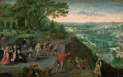 Kaiser Rudolf II. bei einer Trinkkur | Lucas van Valckenborch | Oil Painting