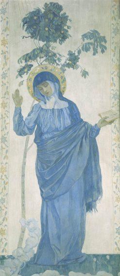 The Annunciation. Virgin Mary | Mikhail Vasilevich Nesterov | Oil Painting