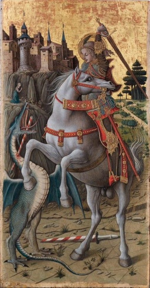 Saint George Slaying the Dragon | Carlo Crivelli | Oil Painting