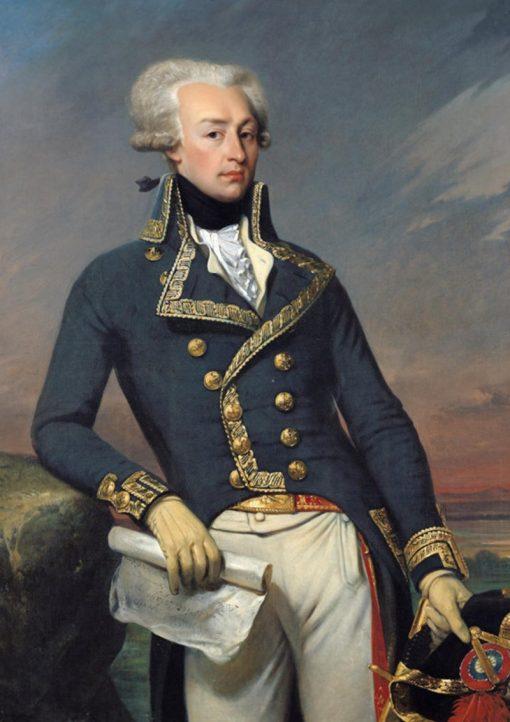 Gilbert du Motier Marquis de Lafayette   Joseph Desire Court   Oil Painting