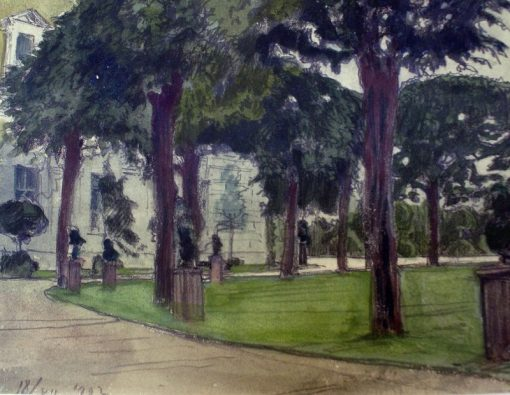 Alley near the Pavlovsk Palace | Alexander Benois | Oil Painting