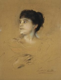 Portrait of Marcella Sembrich | Franz von Lenbach | Oil Painting