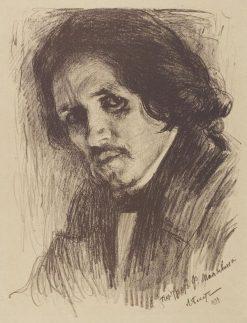 Portrait of Filipp Maliavin | Leon Bakst | Oil Painting
