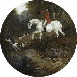 Hounds Pursuing a Fox in Covert | John Frederick Herring