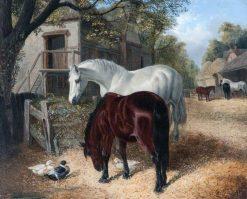 Farm Scene with Horses | John Frederick Herring
