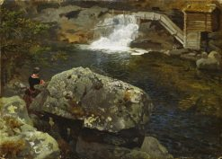 By the Mill Pond | Hans Gude | Oil Painting
