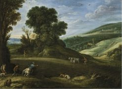 Landscape with Hunters Crossing a Field | Paul Bril | Oil Painting